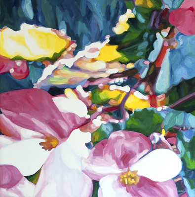 Begonias 1 - oil on canvas - 2015 - 1200 x 1200mm