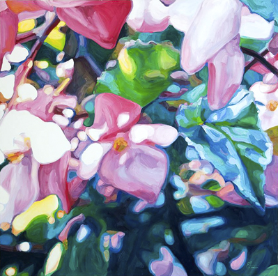 Begonias 2 - oil on canvas - 2015 - 1200 x 1200mm