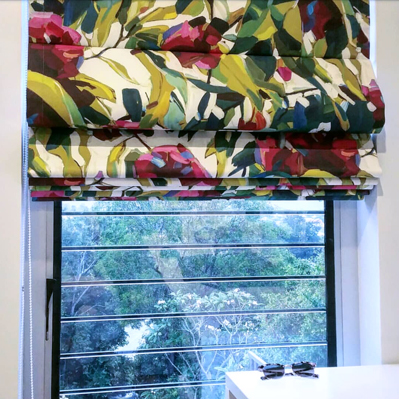 Bloom custom roman blinds