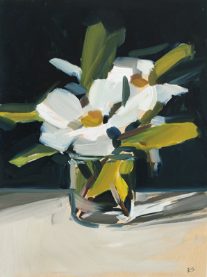 Camelia Still Life - oil on timber - 2018 - 300 x 230mm $390