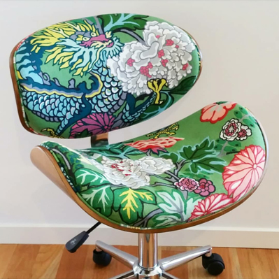 Chiang Mai Dragon custom upholstered office chair