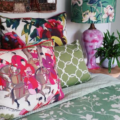 Les Cavaliers custom cushions