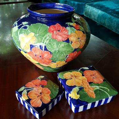 Nasturtium ceramics by Alexandra Matthews