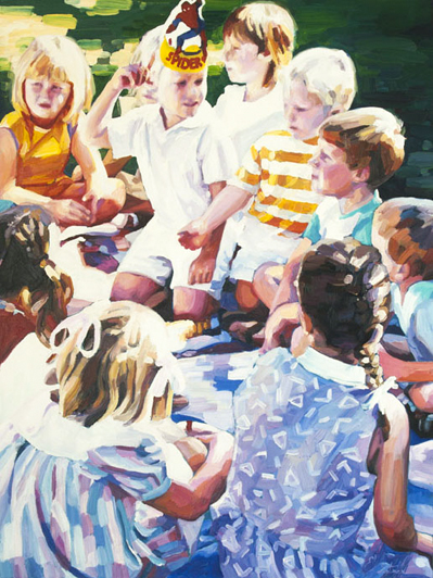 Pass The Parcel - oil on canvas - 2015 - 1000 x 750mm