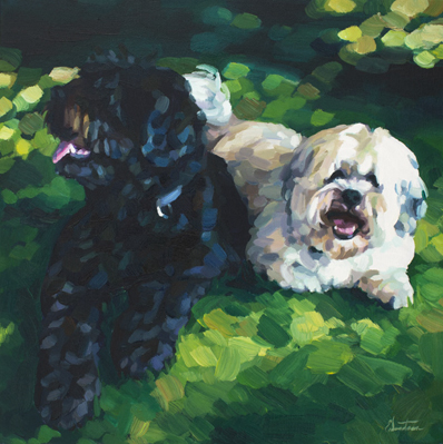 Puppies - oil on canvas - 2016 - 450 x 450mm