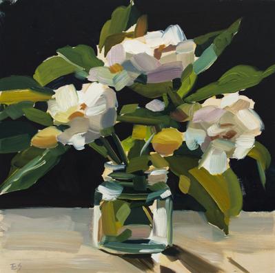 Rose Still Life - oil on timber - 2018 - 300 x 300mm $470