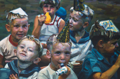Sailors - oil on canvas - 2017 - 510 x 760mm