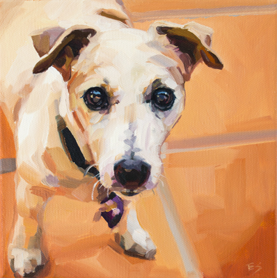 Sues Doggie - oil on canvas - 2018 - 200 x 200mm